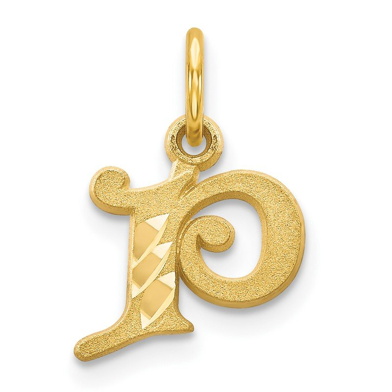 Quality Gold 14k Letter P Initial Charm