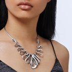 JOHN HARDY Asli Classic Chain Link Bib Necklace in Silver