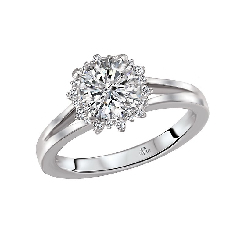 LaVie Split Shank Semi-Mount Diamond Ring