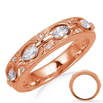 Rose Gold Weddding  Band