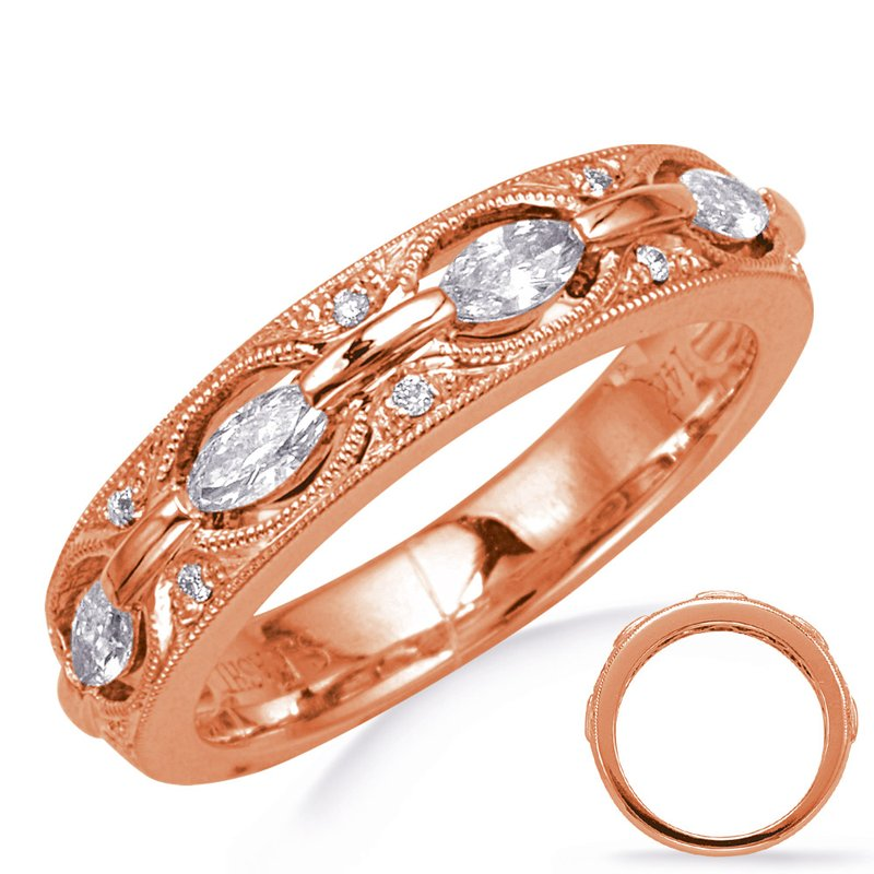 S. Kashi & Sons Bridal Rose Gold Weddding  Band