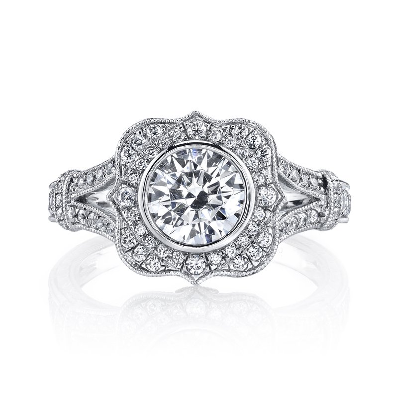MARS Jewelry MARS 25938 Diamond Engagement Ring 0.46 Ct Dia, 0.10 Ct Saph.