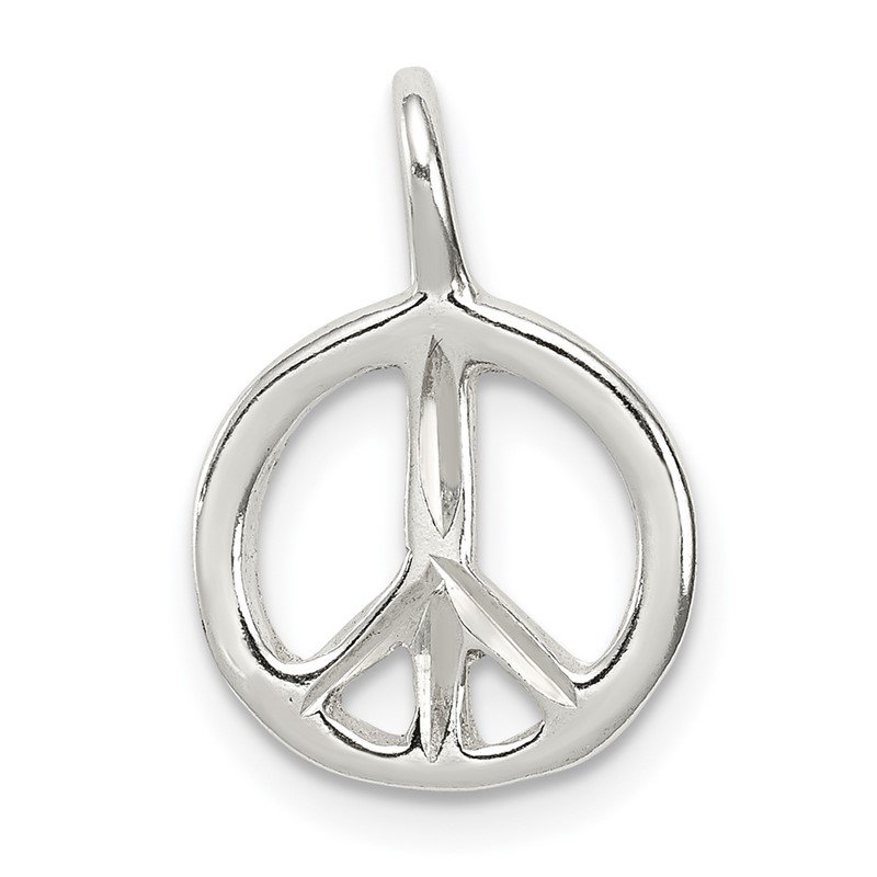Quality Gold Sterling Silver Peace Charm