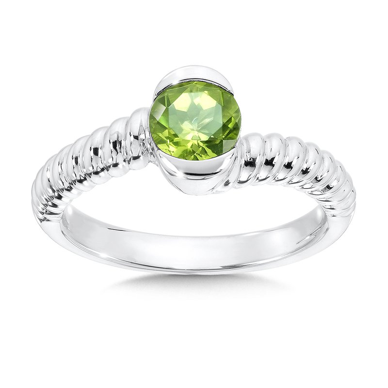 Sterling Silver Peridot Colore Of Life Stack Ring