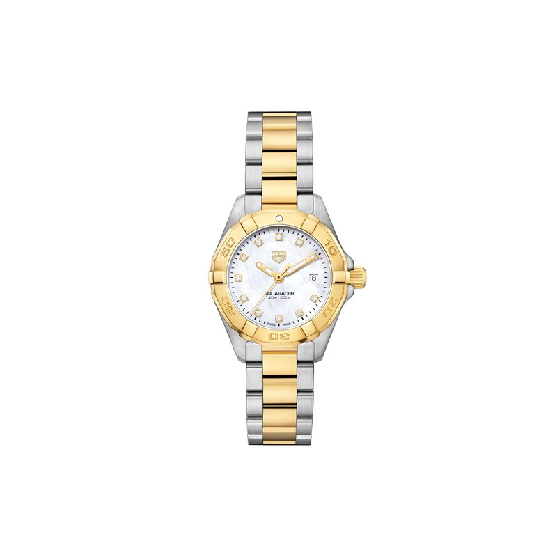 Tag Heuer - USD Aquaracer 300M Steel and Gold Quartz Watch