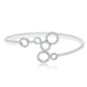 White Diamond Circle Bangle