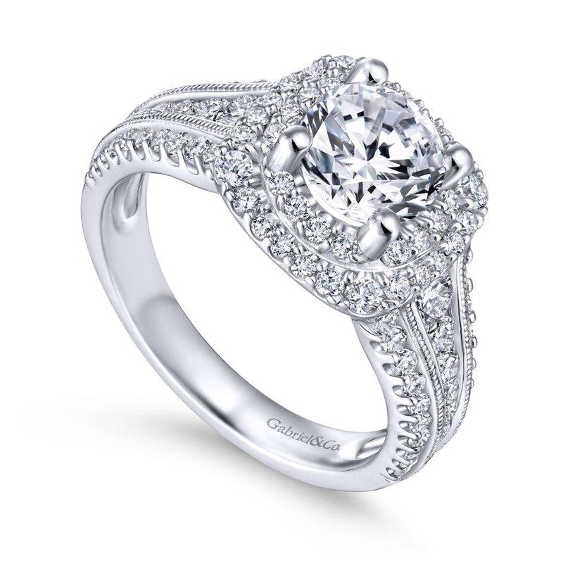 Gabriel Bridal Double Halo Engagement Ring