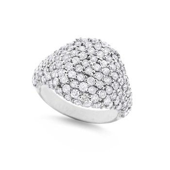 Diamond Fashion Ring in 14K White Gold with 112 Diamonds Weighing 2.27ct tw
