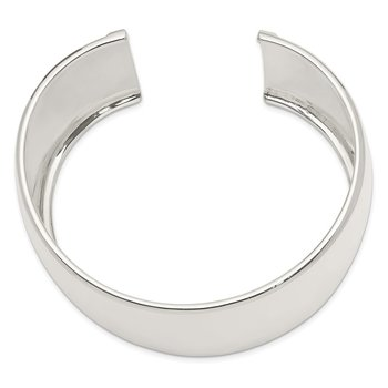 Sterling Silver 40mm Cuff Bangle Bracelet