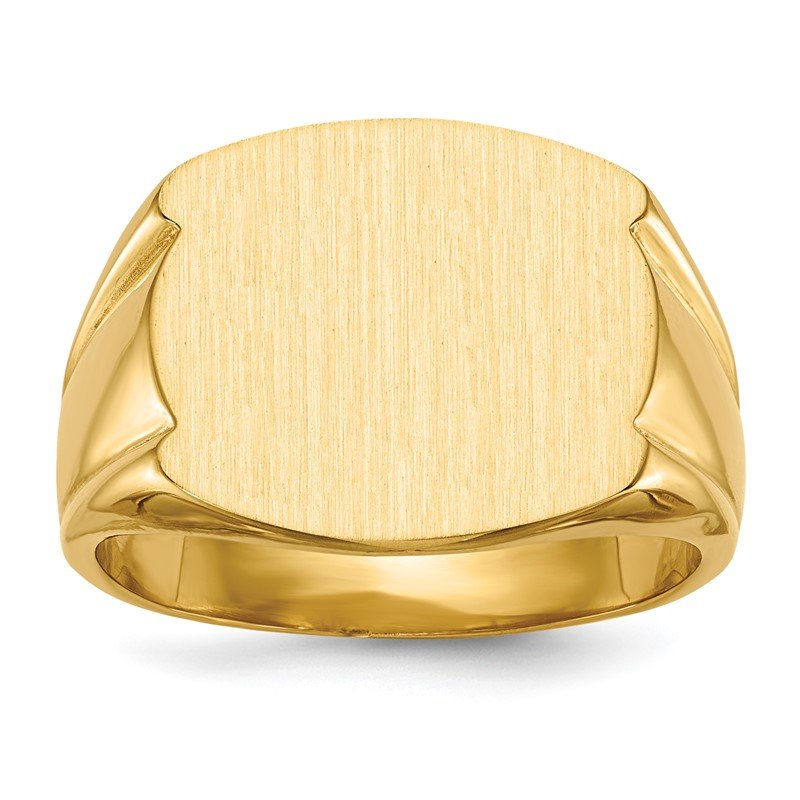 Quality Gold 14k 15.0x16.5mm Closed Back Men's Signet Ring