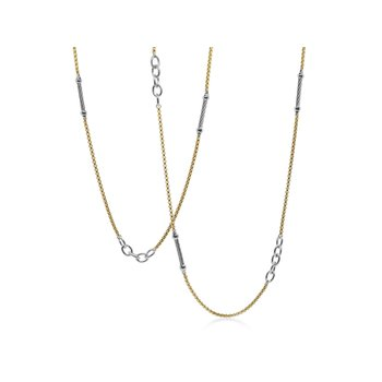 Grey & Yellow Chain Reaction Necklace