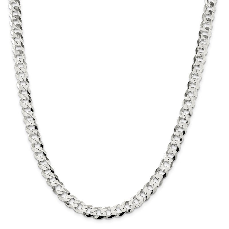 Fine Jewelry by JBD Sterling Silver 8.5mm Flat Curb Chain