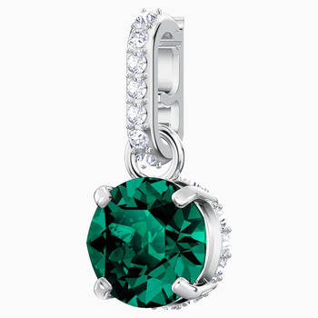 Swarovski Remix Collection Charm, May, Green, Rhodium plated