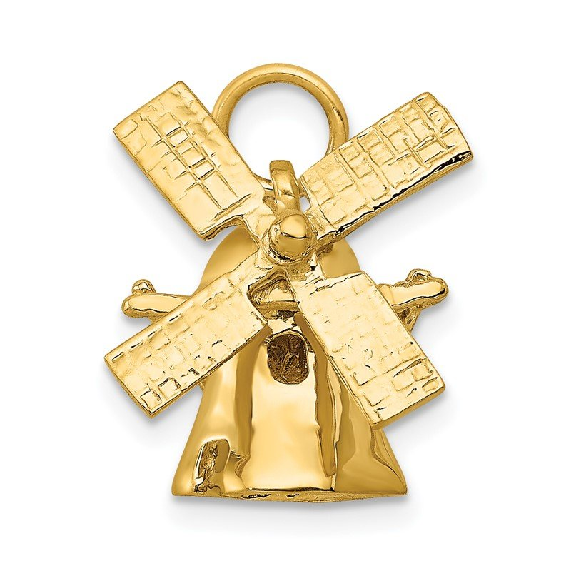 Quality Gold 14K 3D Windmill Charm
