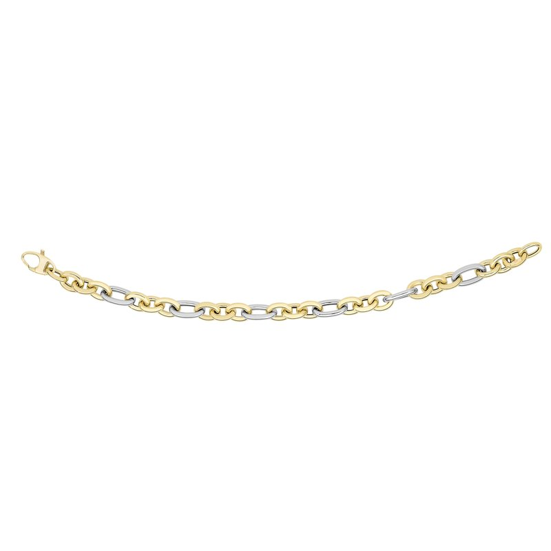 Royal Chain 14K Gold Alternating Three Plus One Heritage Link Bracelet