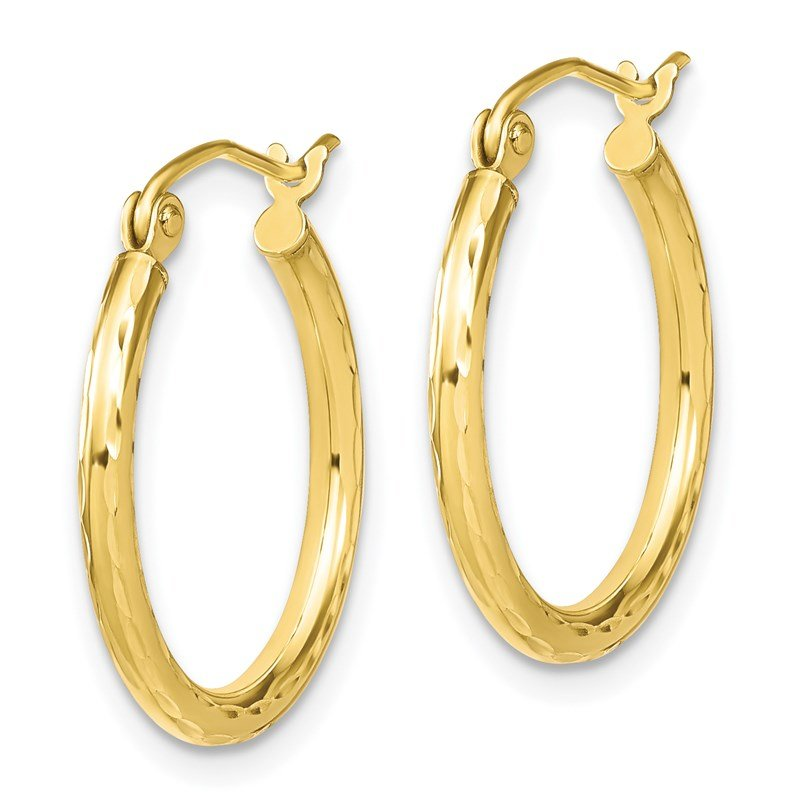 Leslie's Leslie's 10K Textured Hinged Hoop Earrings