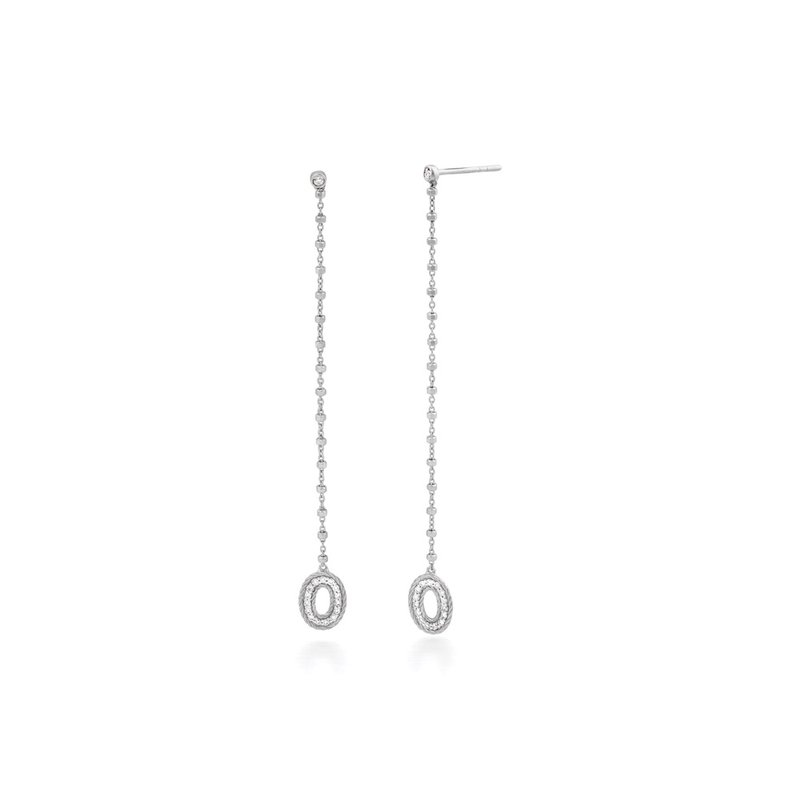 ALOR White Gold & Diamond Solar Drop Earrings