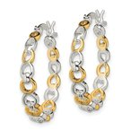 Quality Gold Sterling Silver Flash Gold-plated Hoop Earrings