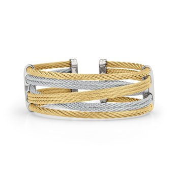 Yellow & Grey Cable Petite Interlaced Bracelet