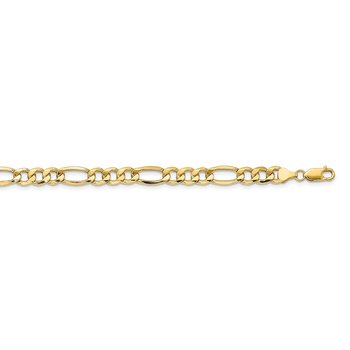 14k 8.5mm Semi-Solid Figaro Chain