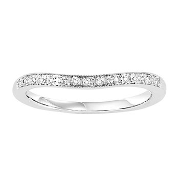 14K Diamond Matching Band 1/12 ctw