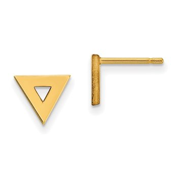 14k Open Triangle Post Earrings