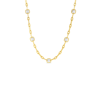 18K GOLD & DIAMOND 11 STATION NEW BAROCCO NECKLACE