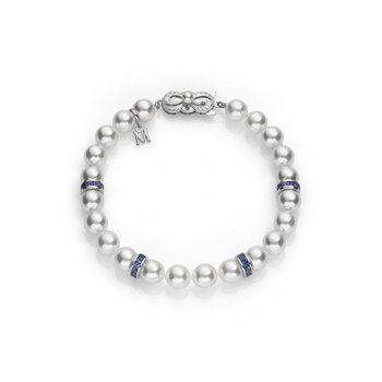 Ocean Bracelet-18k White Gold-A-7.5 x 7 mm