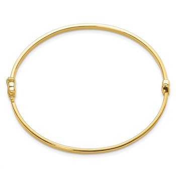 Leslie's 14k Polished Hinged Bangle