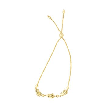14K Gold Bees Friendship Bracelet