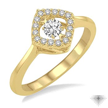 Asscher Shape Emotion Diamond Ring