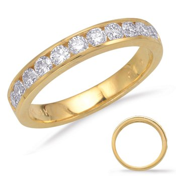 Yellow Gold Channel Set Band