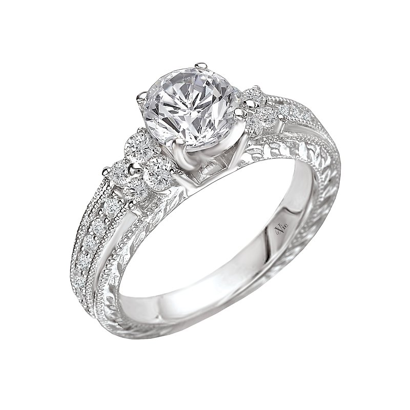 LaVie Peg Head Semi-Mount Diamond Ring