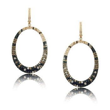 Mocha Mosaic Fashion Earrings