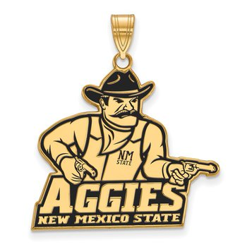 Gold-Plated Sterling Silver New Mexico State University NCAA Pendant