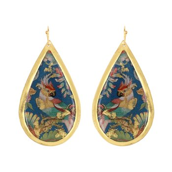 Edwardian Parrot Teardrop Earrings