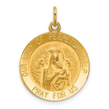14k Our Lady of Perpetual Help Medal Pendant