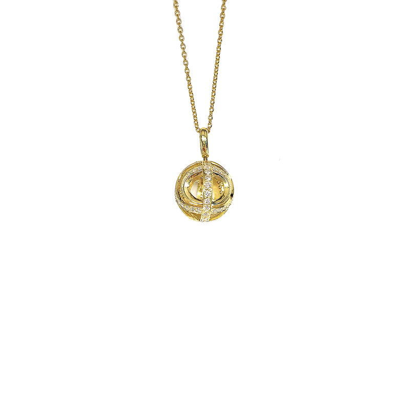 Roberto Coin  #23392 Of Ball Pendant With Diamonds