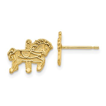 14k Carousel Horse Earrings