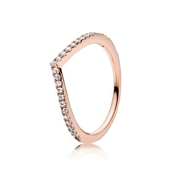 Shimmering Wish Ring, Pandora Rose™ Clear Cz