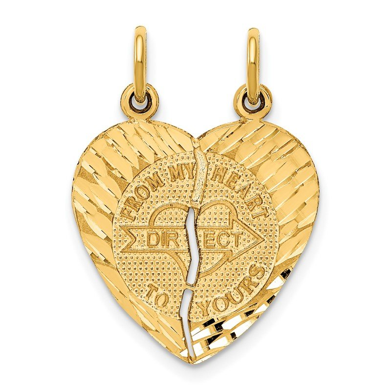 Quality Gold 14k Break-apart FROM MY HEART DIRECT TO YOURS Charm