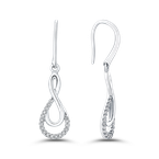 Essentials 10K White Gold .13 Ct Diamond Fashion Earrings