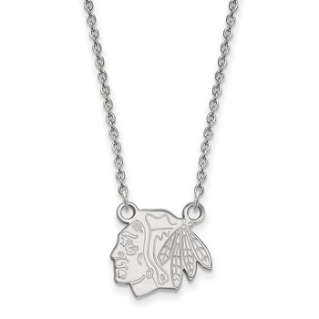 Sterling Silver Chicago Blackhawks NHL Necklace