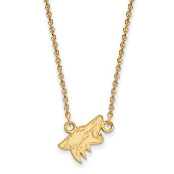 Gold-Plated Sterling Silver Phoenix Coyotes NHL Necklace