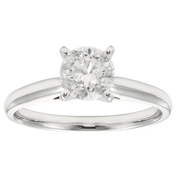 14KW 1 CTW ROUND DIAMOND SOLITAIRE