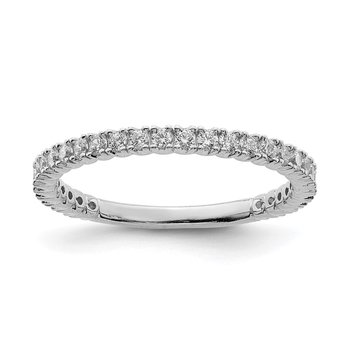Sterling Silver Rhodium-plated 28 Stone CZ Ring