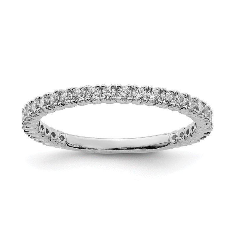 Quality Gold Sterling Silver Rhodium-plated 28 Stone CZ Ring