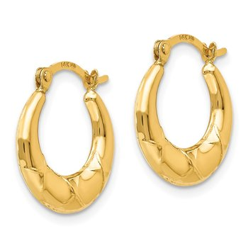 14k Madi K Hollow X Hoop Earrings