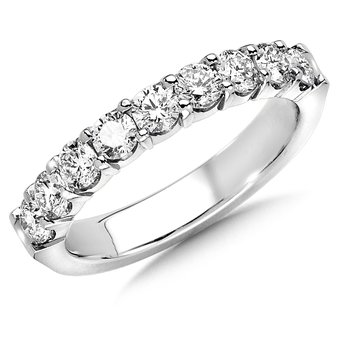Prong set Round Diamond Wedding Band 14k White Gold (3/4ct. tw.)
