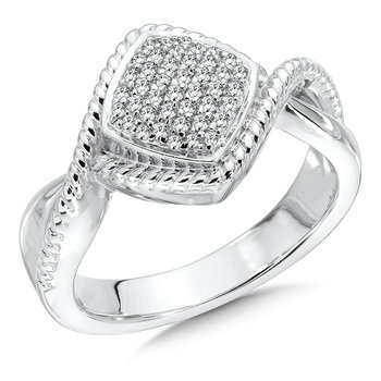 Sterling Silver White Diamond Ring